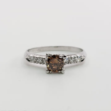 Platinum Ring with a Gorgeous 1/2 CT Chocolate Diamond