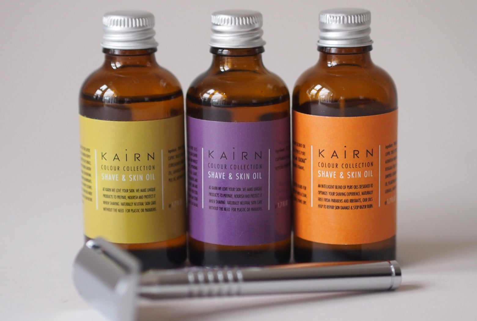 Kairn metal safety razor and product range
