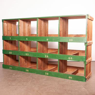 Low Victorian Pigeon Hole Unit/Storage/Shelving Unit - 4 Bay