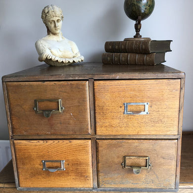 Vintage Wooden Filing Drawers