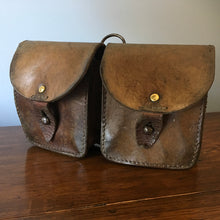 Load image into Gallery viewer, Vintage French Leather Double Belt Pouch