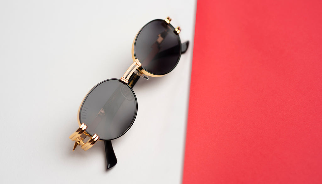 9FIVE St. James Black & 24k Gold Sunglasses