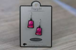 TracyH Earring Trapeze  Circles Pink
