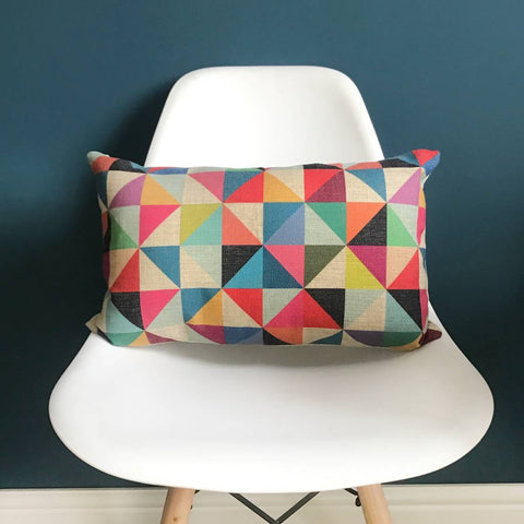Geometric Bolster Cushion Cover