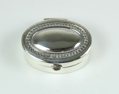 Sterling Silver Oval Shaped Trinket Box
