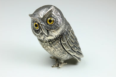 Sterling Silver Ornamental Owl