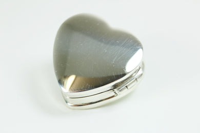 Sterling Silver Heart Shaped Trinket Box