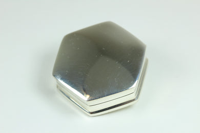 Sterling Silver Hexagon Shaped Trinket Box