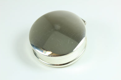 Sterling Silver Circular Shaped Trinket Box