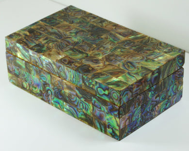 Abalone Shell And Wenge Wood Jewellery Box