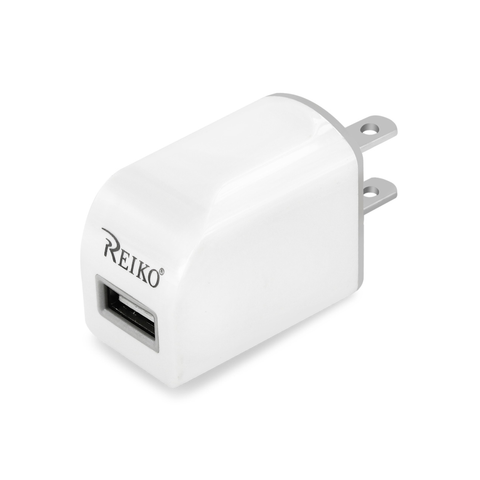 REIKO TYPE C TRAVEL CHARGER WITH DATA CABLE IN WHITE