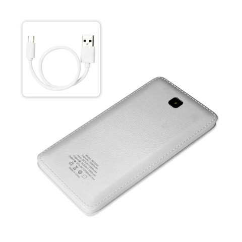 REIKO 15000MAH UNIVERSAL POWER BANK IN WHITE