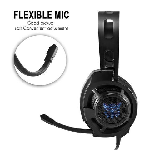 Noise Canceling Gaming Stereo Wired Headphones with LED Lights