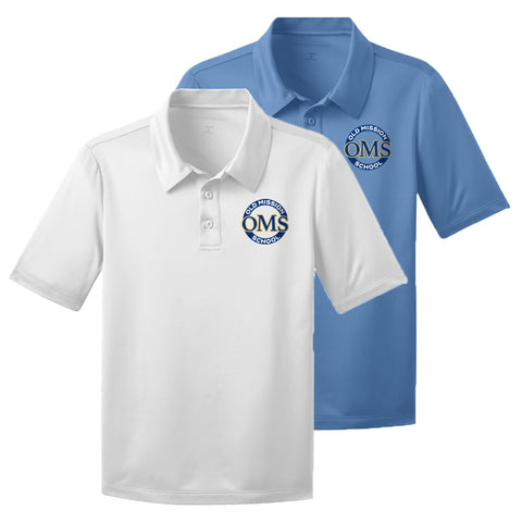 OMS Approved for School - Polyester Performance Fabric Dri-Fit Polo Shirt