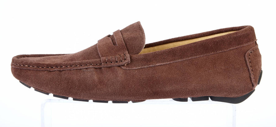 CHOCOLATE SUEDE DRIVING SHOES