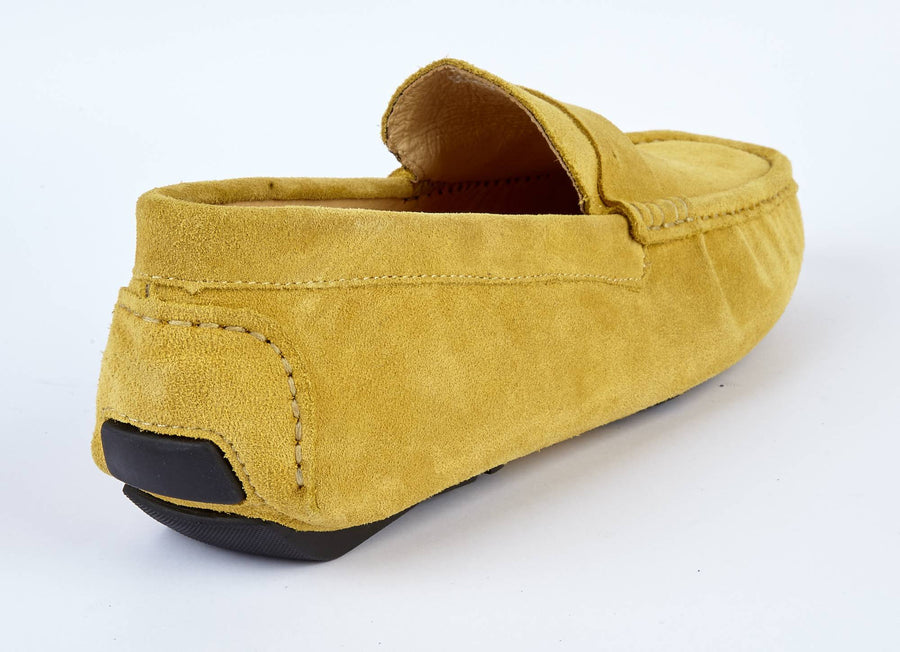 MUSTARD SUEDE LOAFERS