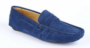 NAVY SUEDE DRIVING SHOES