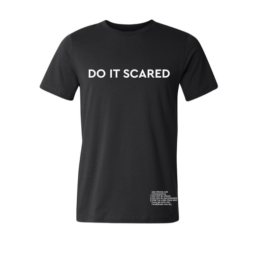 'Do It Scared' Tee Black