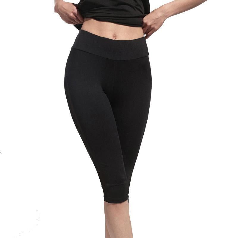 Black Capris - With Mesh Panels - Love For Leggings