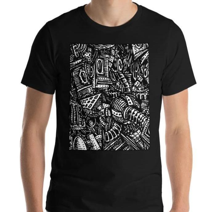 Emil Ellefsen Noise short-sleeve cotton t-shirt