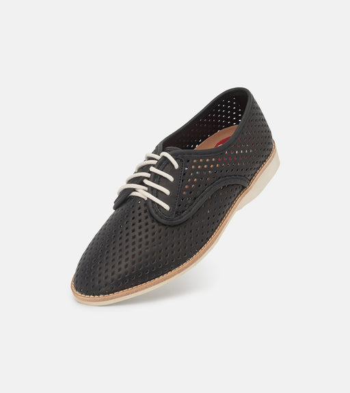 Derby Punch Black Leather