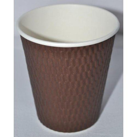 12oz Beta Grip Hot Cups - Brown (25 pack)