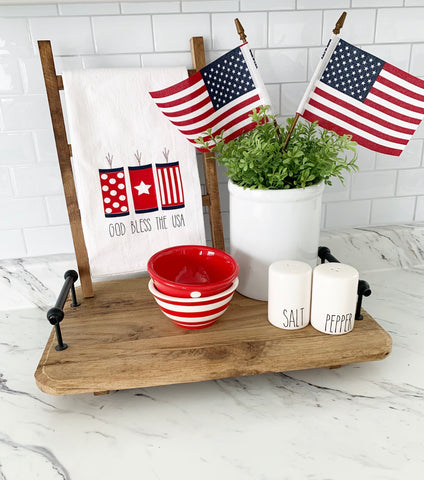 God Bless The USA Tea Towel