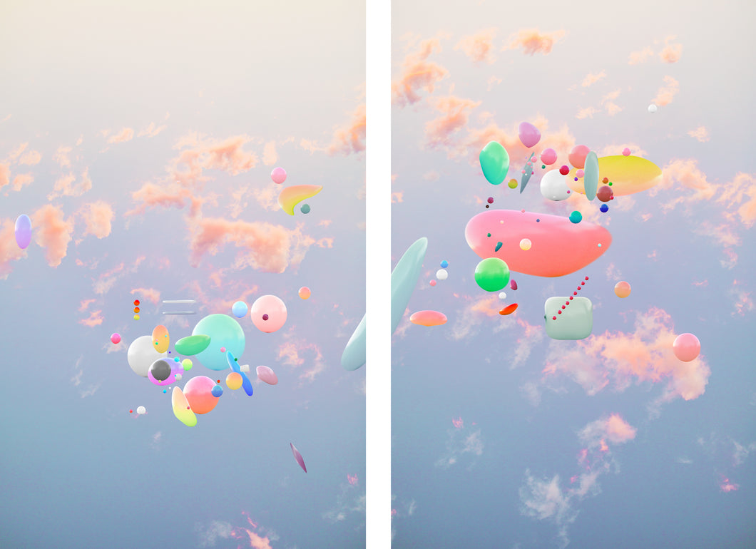 Paint Drops Diptych