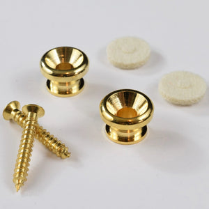 TG&T Gold Strap Button Beveled Set of 2