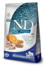 Load image into Gallery viewer, Farmina Ocean N&D Natural and Delicious Ancestral Grain Medium & Maxi Adult Cod, Spelt, Oats & Orange Dry Dog Food