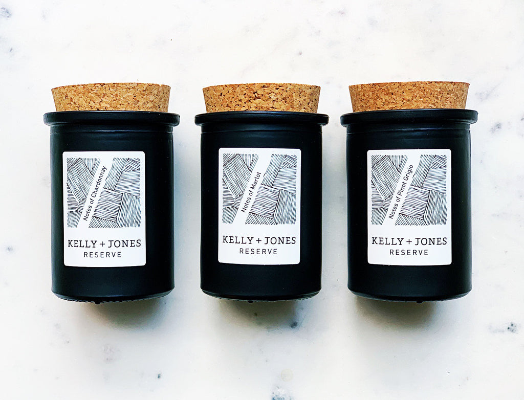 New! Notes of Wine Reserve Candles - Kelly and Jones