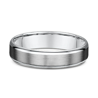 Brushed Silver Titanium Men's Wedder
