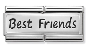 Nomination Best Friends Plate Silver Charm