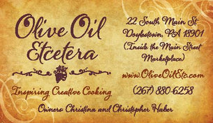 Olive Oil Etcetera - Bucks county's gourmet olive oil and vinegar shop