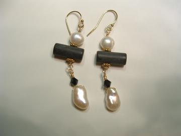 Toulouse Black and White Earrings
