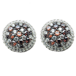 Pave Circle Earrings (see matching Pendant BN130)