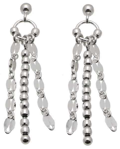 925 Sterling Silver Multi-Link Design Earrings (See matching Necklace)