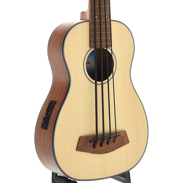 Kala U-Bass-SSMHG-FL Fretless Mini-Bass, Spruce Top