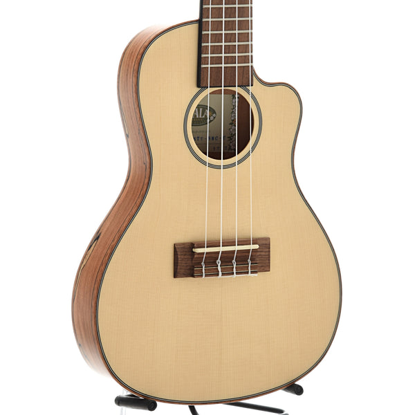 Kala KA-SSTU-SMC-C Thinline Travel Concert Cutaway Ukulele, with Gigbag