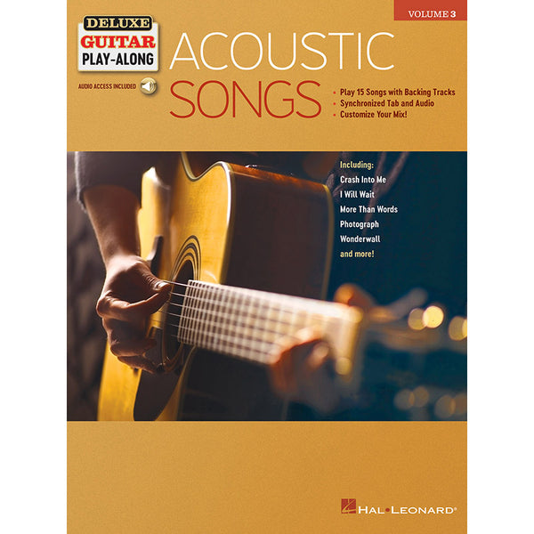Acoustic Songs - Deluxe Guitar Play-Along Vol. 3