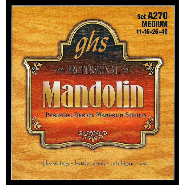 GHS A270 Phosphor Bronze Medium Gauge Mandolin Strings