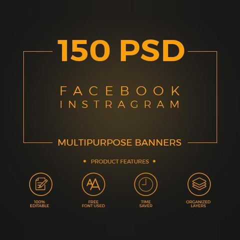 150 - Facebook Multipurpose Banners 4.00 watercolor action