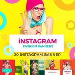 20 - Fashion Instagram Banners 4.00 watercolor action