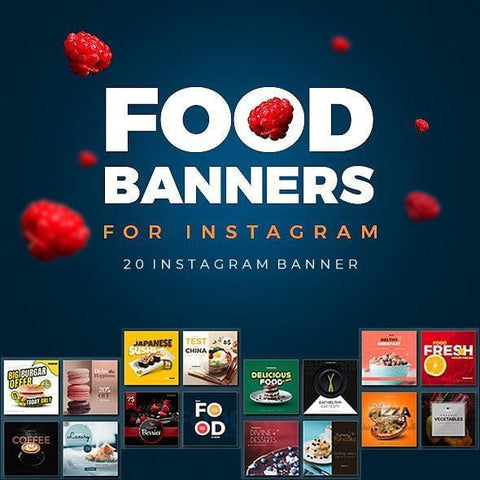 20 - Food Instagram Banners 4.00 watercolor action