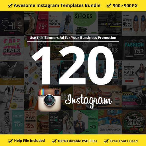 120 – Instagram Banners 4.00 watercolor action