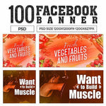 100 - Facebook Multipurpose Banners V1 4.00 watercolor action