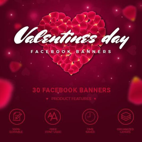 30 - Valentines Day Instagram Banners 4.00 watercolor action