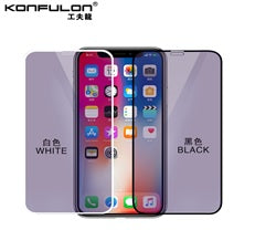 KONFULON IPHONE 6/7/8 3D PURPLE LIGHT TEMPERED GLASS MODEL 3D