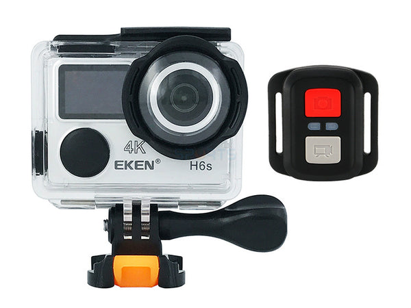 EKEN H6S ULTRA HD ACTION CAMERA 4K+ 14MP WITH EIS 100FT UNDERWATER WATERPROOF CAM PANASONIC SENSOR 170 ANGLE LENS REMOTE SPORTS CAMCORDER WITH 2 BATTERIES ACCESSORIES KIT AND TRIPOD