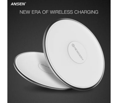 ANSEN WIRELESS CHARGER FAST FOR SAMSUNG, IPHONE WIRELESS PHONE CHARGER SMALL CAR CHARGER WITH QI